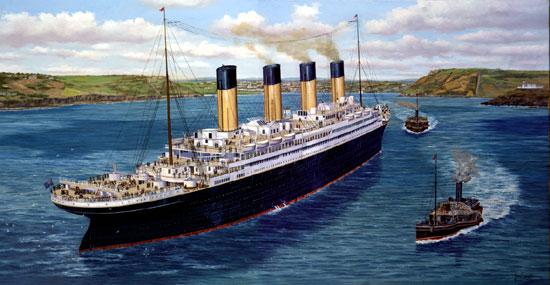 titanic at queenstown